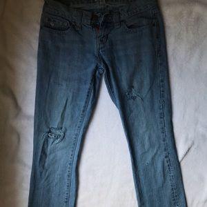 A&F Vintage 92' Ripped Boyfriend Jeans